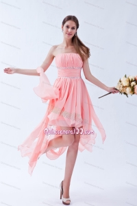 High Low Strapless Beading Chiffon Dama Dress For Quinceanera Party G6466 on Ment 6466
