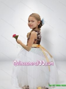 Lovely Ball Gown Camo Flower Girl Dresses with Bowknot