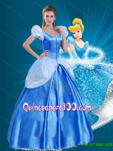 2015 Off the Shoulder Popular Cinderella Quinceanera Dress in Blue
