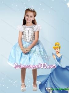 Edgy Knee Length Ball Gown Cinderella Flower Girl Dress with Appliques