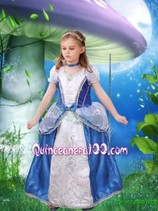 Fashionable A Line Bowknot and Embroidery Cinderella Flower Girl Dress