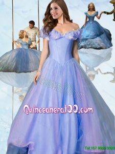 Beautiful A Line Off the Shoulder Cinderella Quinceanera Dresses for 2015