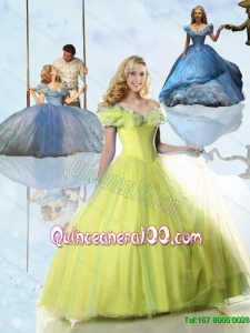 Top Selling Cinderella Quinceanera Dresses in Yellow Green