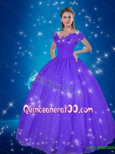 Fashionable 2015 Cinderella Purple Quinceanera Dresses