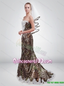 2015 Sturning Mermaid Sweetheart Camo New Style Dama Dresses in Multi Color
