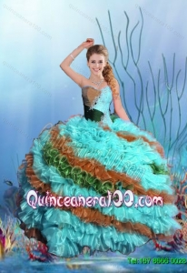 2015 Summer Wonderful Sweetheart Quinceanera Dresses in Multi Color