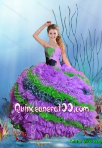 Beautiful Multi Color Sweetheart Quinceanera Dresses for 2015 Summer
