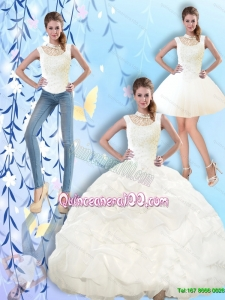 2015 Summer Beautiful High Neck and Beaded Quinceanera Dresses with Pick Ups