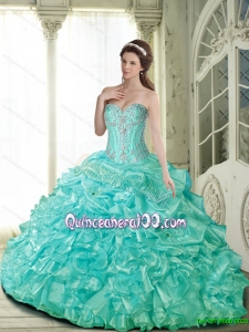 Pretty Ball Gown Quinceanera Dresses with Beading for 2015 Summer