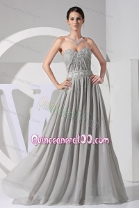 2014 Affordable Grey Mother of the Dresses with Beading and Appliques
