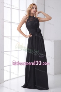 2014 Popular and Simple Empire Lace Black Mother of the Dresses
