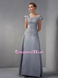 2014 Special Asymmetrical Gray Mother Of The Dress with Appliques