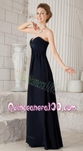 2014 Custom Made Sweetheart Black Mother of the Dresses with Ruching
