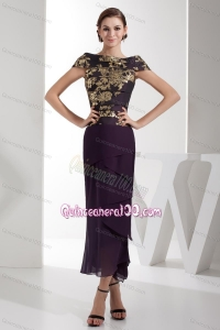 2014 Customize Eggplant Purple Mother of the Dresses with Embroidery