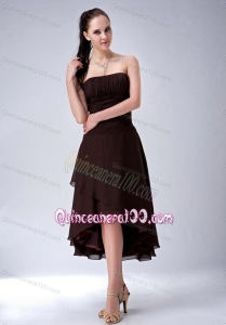 2014 Exclusive Princess Ruching Mother of the Dresses in Brown