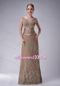 2014 The Brand New Style Champagne Mother of the Dresses with Appliques