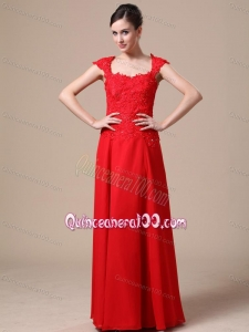 Luxurious Square Red Mother of the Dresses with Lace For 2014