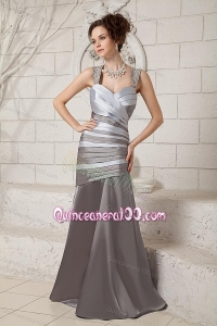 2014 The Super Hot Straps Beading Mother Of The Dress in Gray