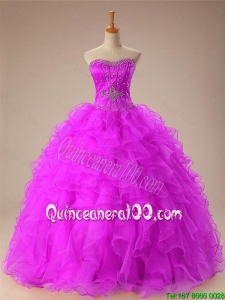 2015 Summer Sweetheart Quinceanera Dresses with Beading