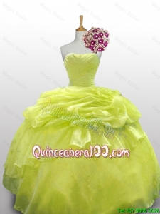 New Arrival 2016 Summer Paillette and Beaded Quinceanera Dresses in Organza