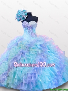 New Arrival Beading and Sequins Sweetheart Quinceanera Dresses for 2015