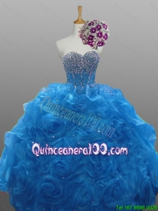 Perfect Beaded Quinceanera Gowns in Organza for 2015 Fall