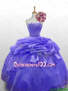Pretty 2016 Summer Beaded and Paillette Quinceanera Dresses with Ruffled Layers