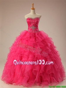 Pretty Sweetheart Quinceanera Dresses with Beading and Ruffles for 2016 Summer