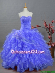 2015 Perfect Sweetheart Dresses for Quinceanera with Beading and Ruffles