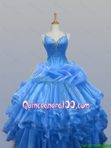 Beautiful Beaded Quinceanera Dresses with Ruffled Layers for 2015