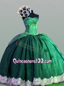 Elegant Sweetheart Lace Quinceanera Dresses in Taffeta for 2016 Fall