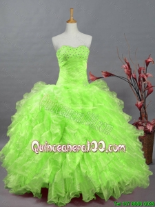 New Style Sweetheart Quinceanera Dresses in Spring Green for 2016