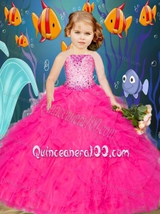 Newest Beading and Ruffles Hot Pink Little Girl Pageant Dress