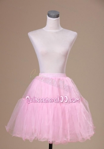 Mini-length Customize 2013 Baby Pink Petticoat