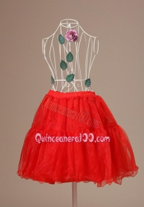 Mini-length Hot Selling 2013 Red Petticoat