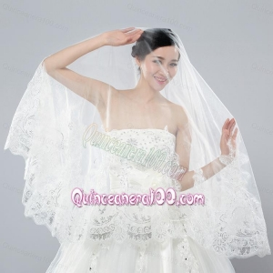 Two-Tier Lace Edge Wedding Veil for Wedding Party