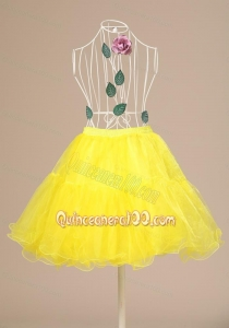 Yellow Hot Selling Mini-length Petticoat