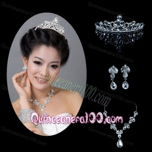 Dreamlike Alloy With Rhinestone Pearl Ladies Jewelry Sets
