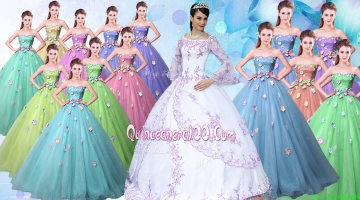 Gorgeous Off the Shoulder Applique Quinceanera Dress in Taffeta