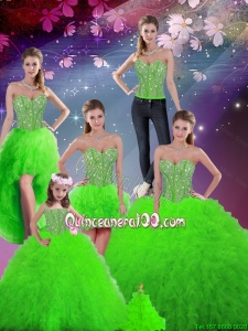 2016 Summer Cheap Beaded Sweetheart Detachable Sweet 16 Dresses with Floor Length