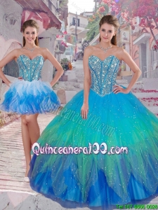 2016 Summer Popular Ball Gown Detachable Quinceanera Dresses in Multi Color