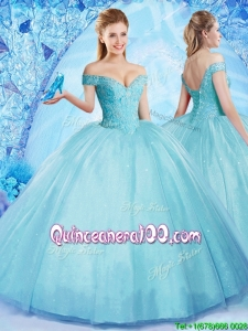 Popular Really Puffy Off the Shoulder Quinceanera Dress with Beading