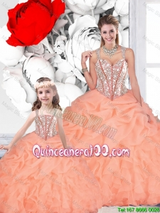 2016 Popular Ball Gown Straps Beaded Matching Sister Dresses
