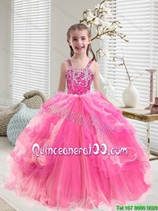 Modern Multi Color Little Girl Pageant Dresses with Ruffled Layers
