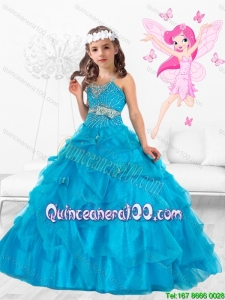 New Style Scoop Beaded and Bowknot Little Girl Pageant Dresses