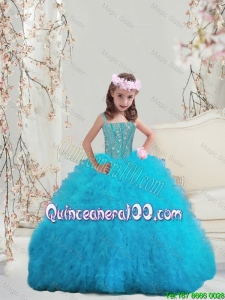 Perfect Beaded and Ruffles Spaghetti Little Girl Pageant Dresses