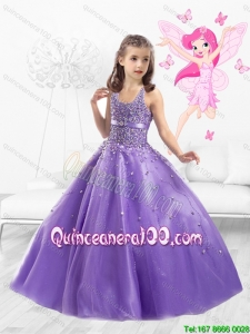 2016 Cheap Tulle Straps Little Girl Pageant Dresses with Beading