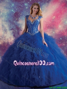 2016 Exquisite Royal Blue Quinceanera Dresses with Beading