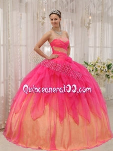 Low Price Beaded Ruffled Two-toned Quinceanera Dresses Designer