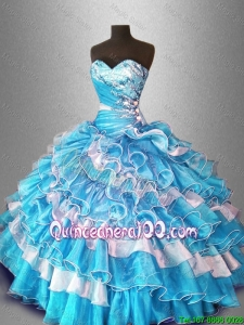 Beautiful Ball Gown Popular Sweet 16 Dresses with Beading and Ruffles for 2016